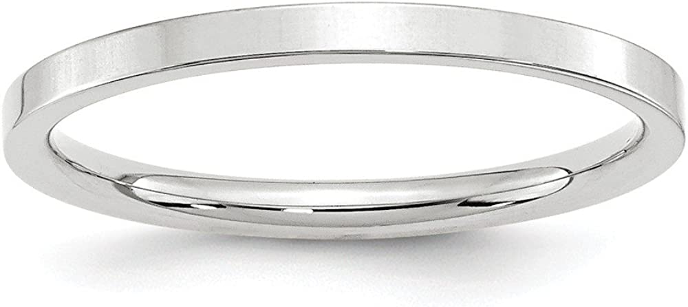Best Birthday Gift 14KW 2mm Standard Flat Comfort Fit Band Size 5