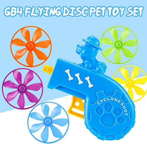 GB4 Cat Fetch Toy – Cat Tracks Cat Toy – Fun Levels of Interactive Play – Cat Toys with 5 Colors Flying Propellers…