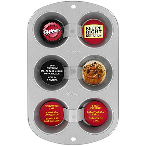 (Wilton Recipe Right Muffin Pan, For great Muffins, Cupcakes, Breakfast Potato Egg Cups and so Much More, 6-cups)