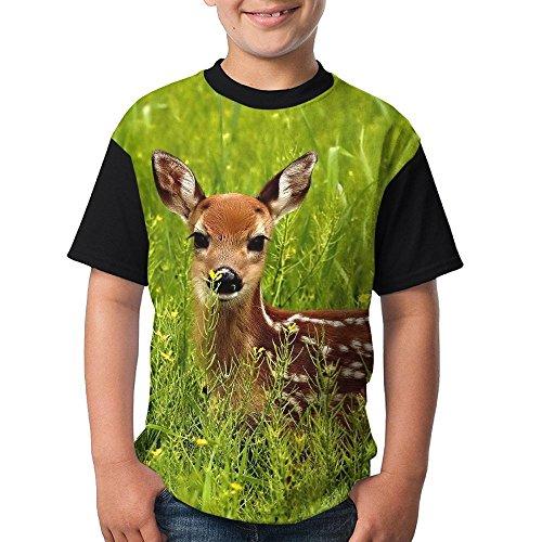 ENGJDHEH Teenager T Shirt Deer Teen Short Sleeve