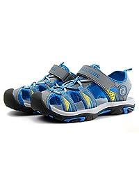 katliu Boys Sandals Outdoor Closed Toe Kids Hiking Breathable Lightweight Girls Soft Causal Beach Shoes