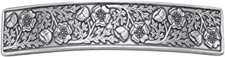 product image for DANFORTH - Wild Rose Pewter Barrette - 3 1/2 inches - Handcrafted - Made in USA