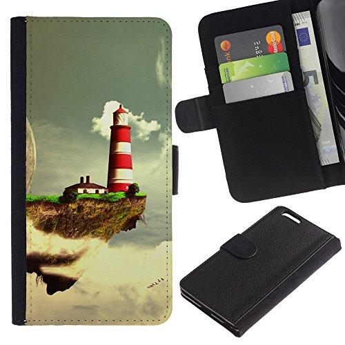 Funny Phone Case // Cuir Portefeuille Housse de protection Étui Leather Wallet Protective Case pour Apple Iphone 6 PLUS 5.5 /Fantastique Planète/