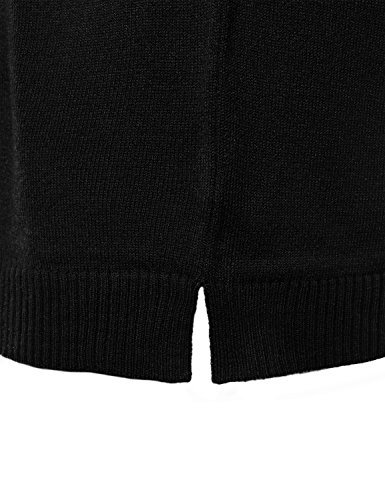 FLORIA Womens Crewneck Long Sleeve Soft Pullover Knit Sweater Top w/Ribbed Trim Black S by FLORIA (Image #4)