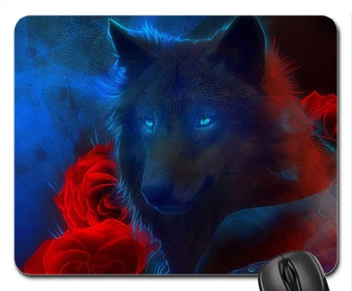 Wolf Roses Mouse Mousepad Dogs product image