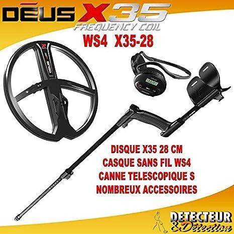 Detector de metales XP DEUS V3,2 WS4 Lite 2 (28 G) negro: Amazon.es: Electrónica