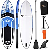 Goplus 10.5' Inflatable Stand Up Paddle Board SUP Cruiser with Fin, Adjustable Paddle Pump and Carry Backpack (Blue)