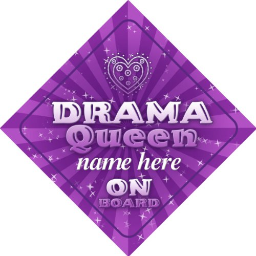- Drama Queen On Board Personalised Car Sign New Baby Girl/Child Gift/Present