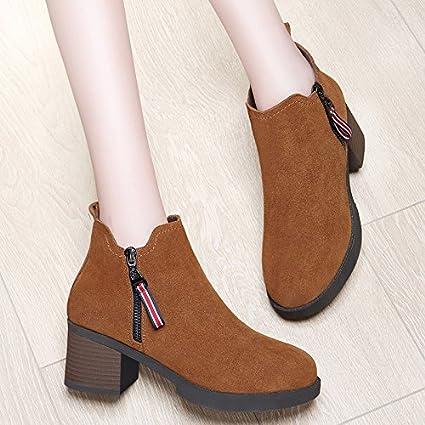 AJUNR Damen Neue Mode Schuhe Kleine Schuhe Herbst Winter