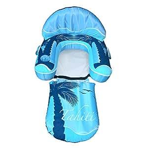 Blue Wave Drift + Escape Inflatable Pool Lounger, Blue