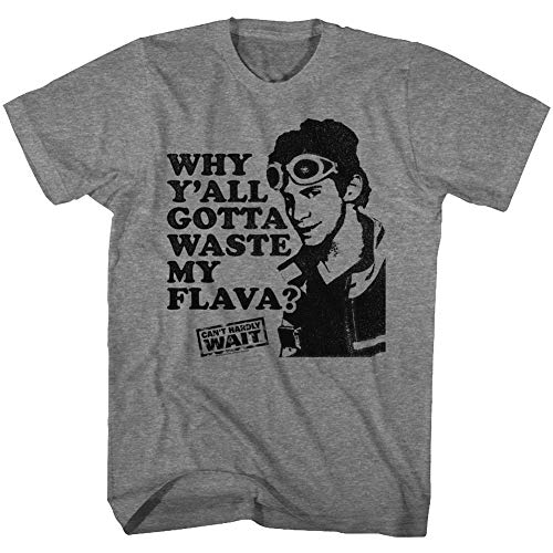 DressCode Cant Hardly Wait - Mens Waste My Flava T-Shirt, Size: XX-Large, Color: Graphite Heather
