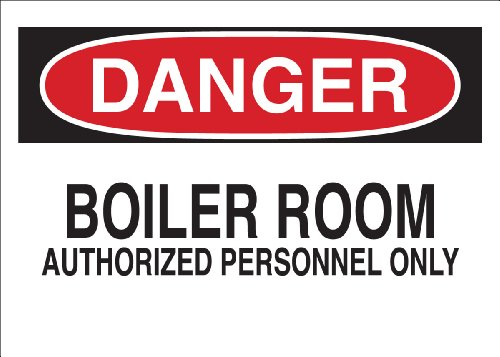 Brady 40641 Aluminum Admittance Sign, 7