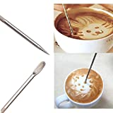 Soooku Barista Household Coffee Cappuccino Latte Espresso Steel Art Pen Stainless Tool