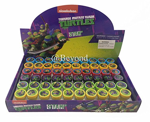 New! (30ct) Teenage Mutant Ninja Turtles Tmnt Stamps Stampers Self-inking Party Favors-30x Stamps -