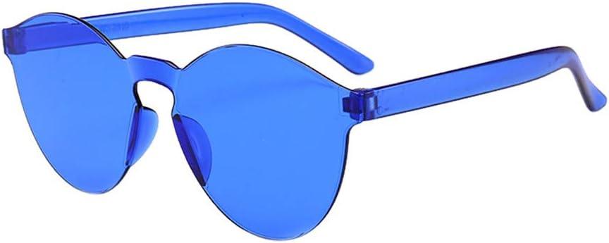 Sunglasses Hergoto Women Men Fashion Clear Retro Sunglasses Outdoor Frameless Eyewear Glasses B