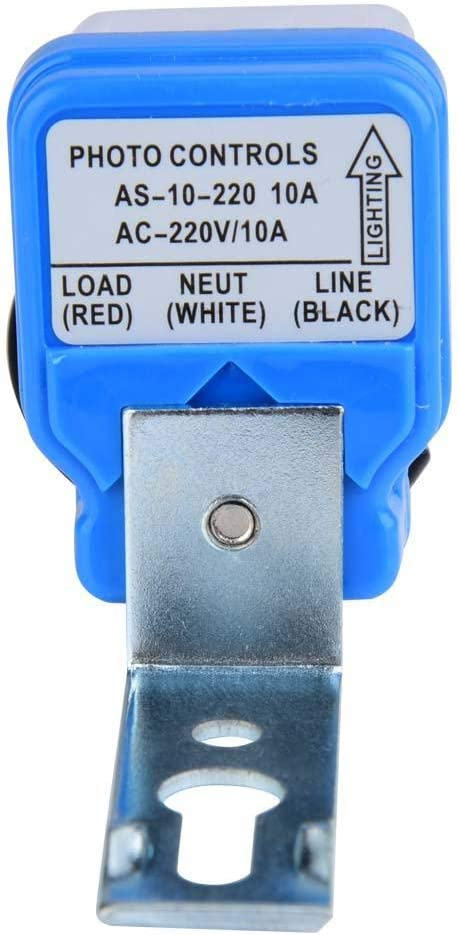 Sensor de Control de luz con Interruptor autom/ático de Encendido//Apagado 1.00V Photoswitch Highways Parks iluminaci/ón AC 12 V//24 V//110 V//220 V 10 A Interruptor de luz de Calle