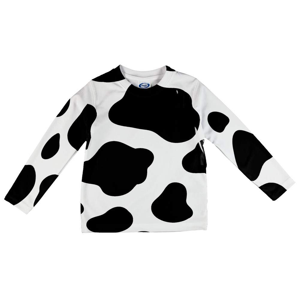 Old Glory Cow Pattern Costume All Over Toddler Long Sleeve T Shirt