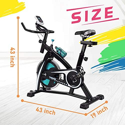 V-FIRE Indoor Cycling Bike Stationary – Exercise Cycle Bike with Water Bottle Comfortable Seat Cushion