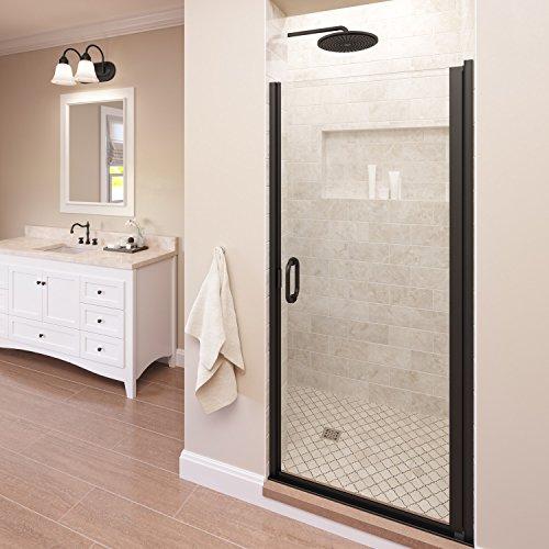 Basco Infinity 33- 34 in Width, Semi-Frameless Shower Door, Clear Glass, Oil Rubbed Bronze Finish