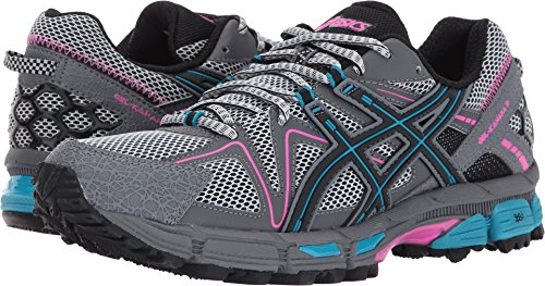 ASICS Womens Gel-Kahana 8 Running Shoe, Black/Island Blue/Pink Glow, 8.5 Medium US ()