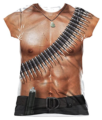[Rambo First Blood III Costume Junior Fit All Over Front T-Shirt] (Rambo First Blood Costume)