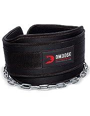 DMoose Fitness Dip Belt met Ketting voor Gewichtheffen, Pullups, Powerlifting, CrossFit en Bodybuilding Workouts, Lange Heavy Duty Steel, Comfortabele Neopreen Taille Ondersteuning