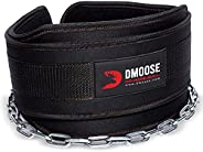 DMoose Fitness Neoprene Dip Belt for Weight Lifting, Pullups, Powerlifting, Crossfit, and Bodybuilding Workout
