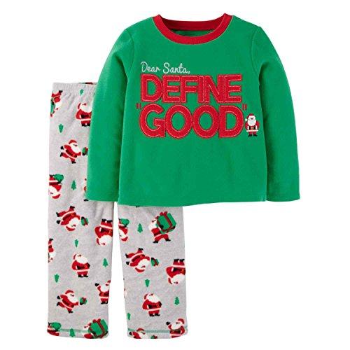 (Just One You by Carter's Baby Boys' 2-Piece Fleece Christmas Pajama Set Define Good (12M))