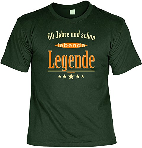 T-Shirt mit Wunschname - 60 Jahre und schon lebende Legende - Lustiges Sprüche Shirt als Geschenk zum sechzigsten Geburtstag