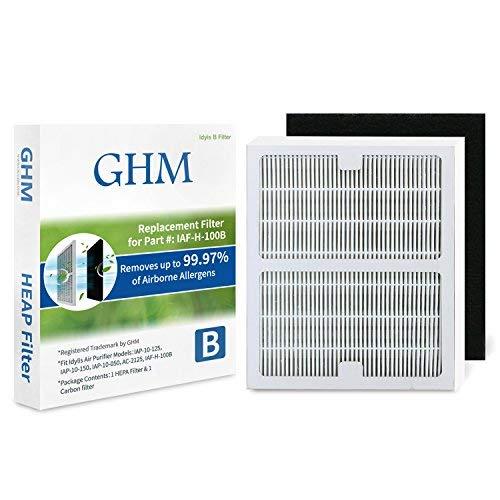 GHM Part # IAF-H-100B Idylis B Hepa /& Carbon Air Purifier Filter for Idylis Air Purifier IAP-10-125 and IAP-10-150 Models