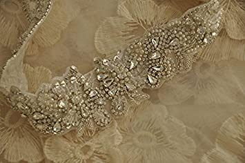 Rhinestone applique shinybeauty super lusso per abiti da donna