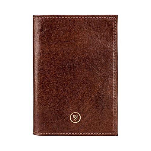 Maxwell Scott Personalized Luxury Handcrafted Italian Full Grain Leather Passport Cover / Holder (The Prato) by Maxwell Scott Bags