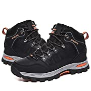 Mens Hiking Boots Waterproof Womens Hiking Shoes Backpacking Ladies Lightweight Trekking Shoes Trail Mountaineering…
