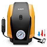 SUAOKI Air Compressor Pump 150 PSI 12V DC Tire Inflator with Gauge for Cars, Bicycles and Basketballs (Black and Yellow)