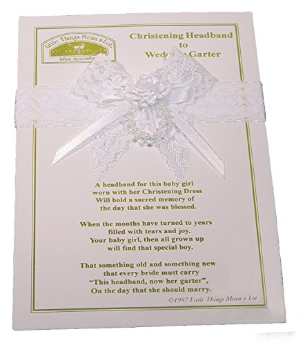 Christening Headband to Wedding Garter, White/One Size AHEAD2