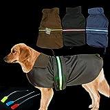 Yuda IT® Pet Dog Puppy Waterproof LUMINOUS LED Harness Raincoat Cold Weather Coat Jacket Coats Jackets Clothes (Small, Medium, Large sizes) (Blue, L)