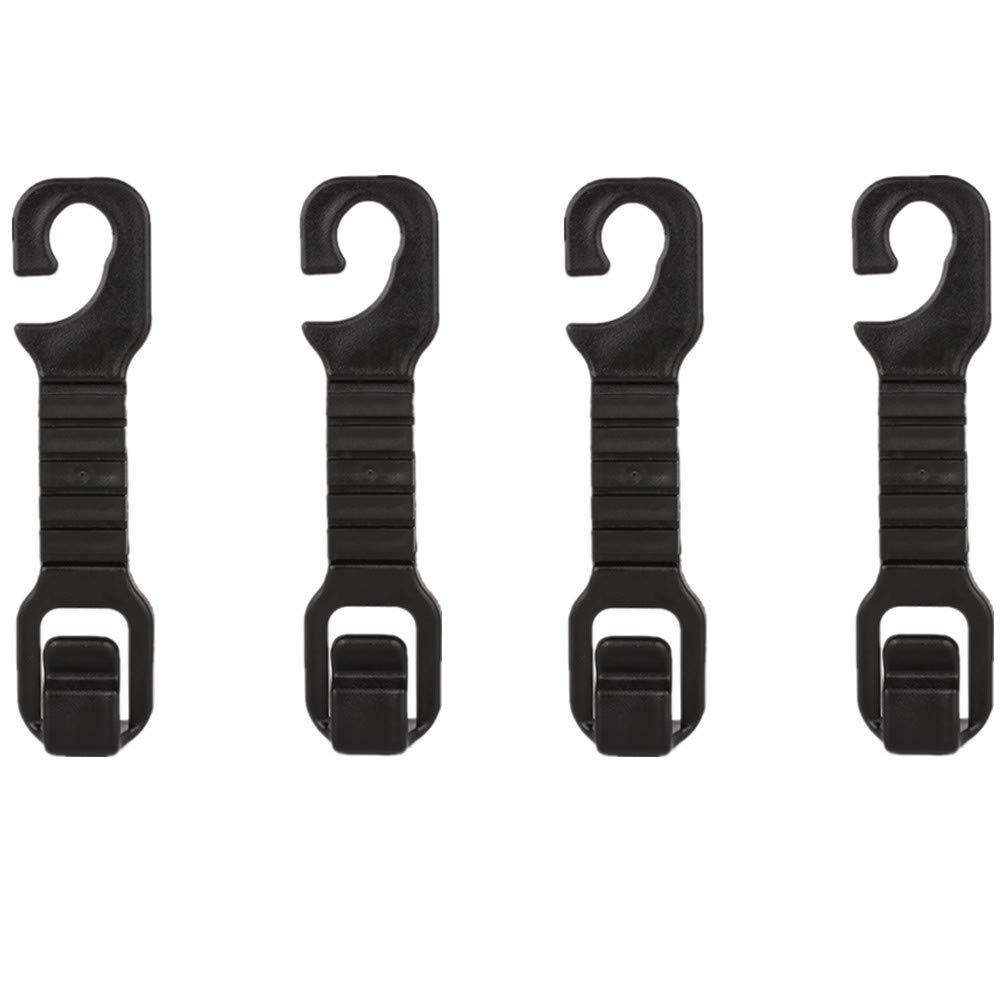 Lot de 4universel pratique véhicule Auto appui-tête Cintre Crochet support–solide et durable Siège arrière de stockage pour sacs à main, sacs à main, manteaux, support de bouteille, et sacs à provisions Gyges 8675491596459