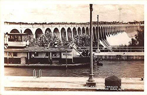 Wilson Dam Alabama Boat Passing Through Lock Real Photo Postcard JA4741985