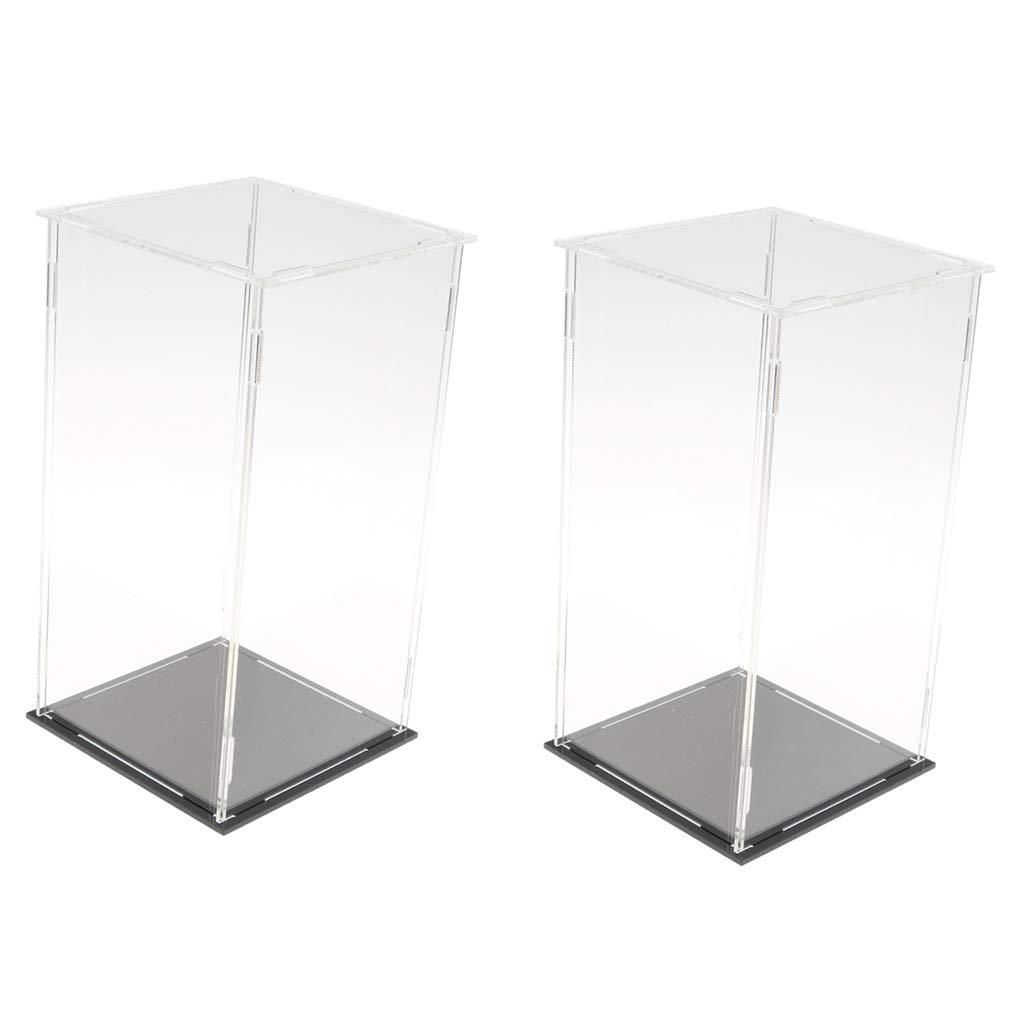 2pcs Acryl Vitrine Clear Box staubdicht abnehmbare Figur Modelle