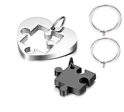 Amazon.com: NextStone - Collar con colgante de corazón de ...