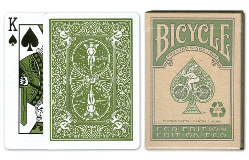 Bicycle Eco Playing Cards: 12 Decks of Bicycle Poker Size Eco-Friendly Playing Cards, 100% Recyclable by Bicycle