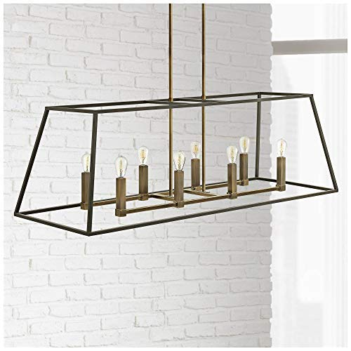 Hinkley 3338BZ Restoration Eight Light Stem Hung Linear from Fulton collection in Bronze/Darkfinish, by Hinkley (Image #2)