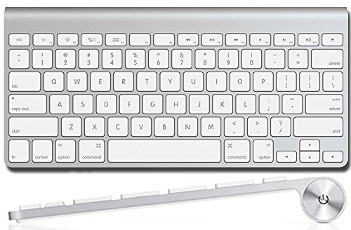 Apple Wireless Keyboard with Bluetooth - Compatible with Mac Computers, iPad, Apple TV, and iPhone.