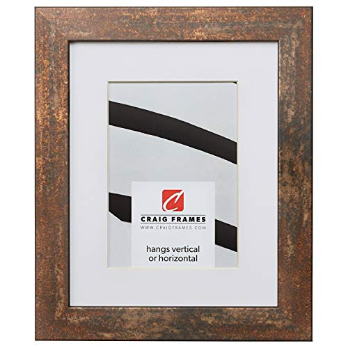 Craig Frames Bauhaus 125, 8.5 x 11 Inch Rust Picture Frame Matted to Display a 6 x 9 Inch Photo ()