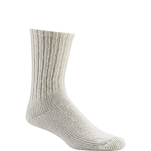 Wigwam Husky Heavyweight Crew F1089 Sock, White - Large