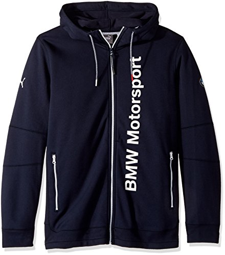 PUMA Men's BMW Motorsport Hooded Midlayer, Team Blue, Small
