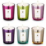 #6: Scented Candles 100% Natural Eco-friendly Soy Wax ,Flower Fragrance & Essential Oils & Stress Relief ,Set Gift of 6