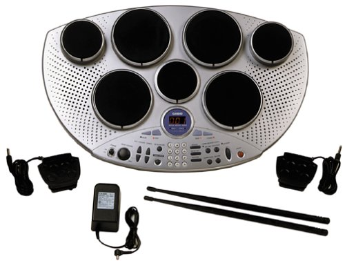 Casio LD-80 Touch-Sensitive Digital Drums with Guide Lights and AD-12 AC Adapter