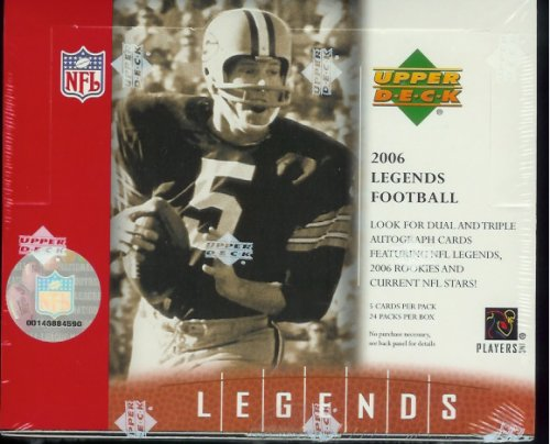 2006 Upper Deck Legends Football Cards Box - Autographs In Every Box!