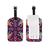 FunnyCustom Luggage Tag Paisley Africa Women Travel ID Label for Baggage